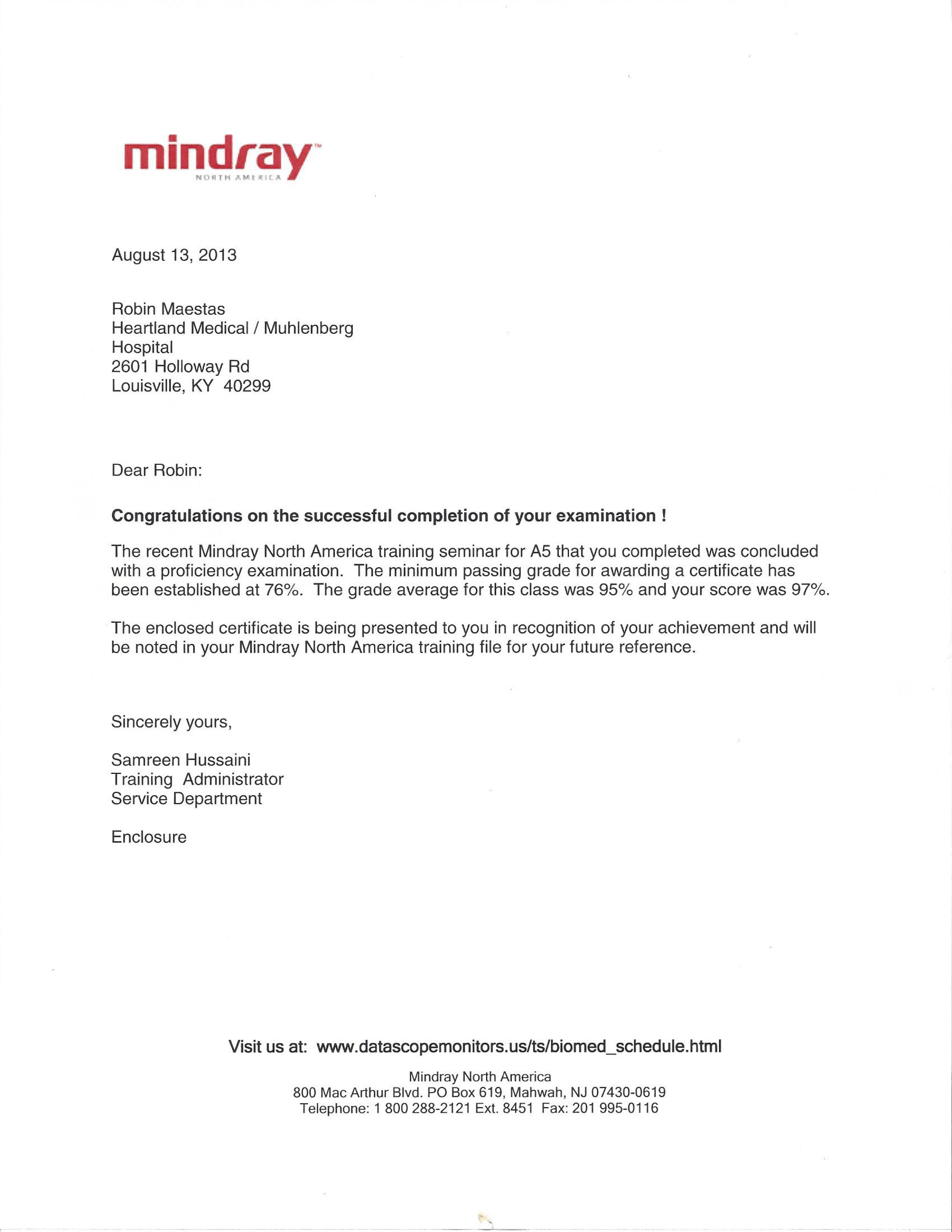 Medical device certifications mindray a5 training2 xflitez Gallery