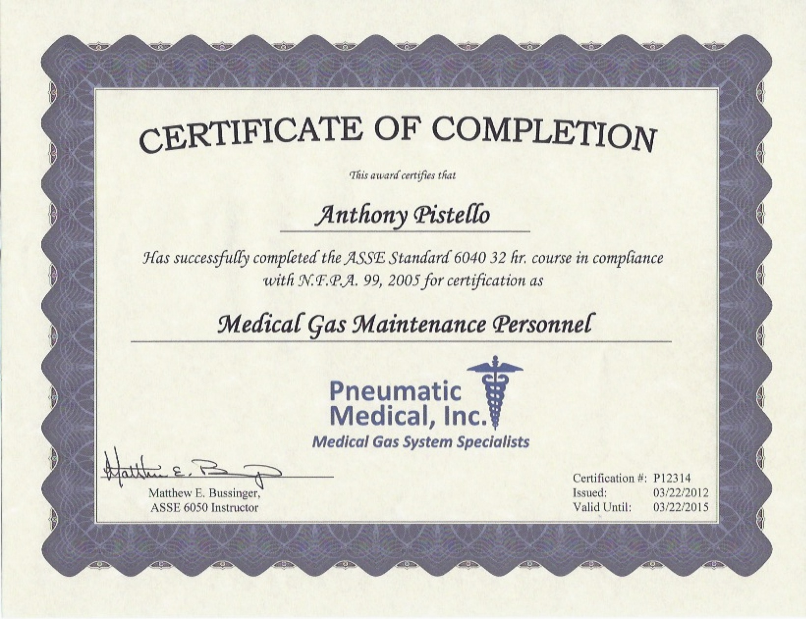 Medical Device Certifications