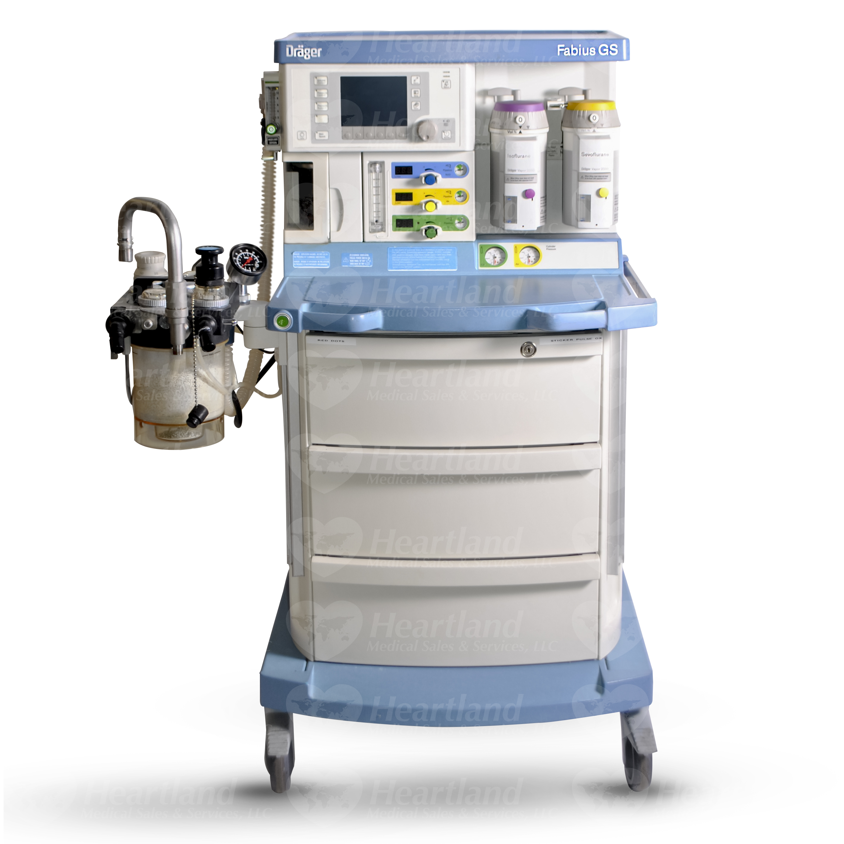 refurbished drager fabius gs anesthesia machine for sale rh heartlandmedical com 2000 Fuel Vaporizer 2000 Fuel Vaporizer