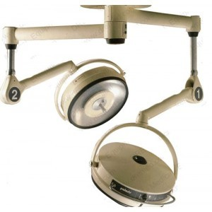 Amsco-Steris Polaris Dual Head Ceiling Mounted Surgical Lights