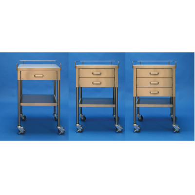 Mac Medical Stainless Steel Back Tables