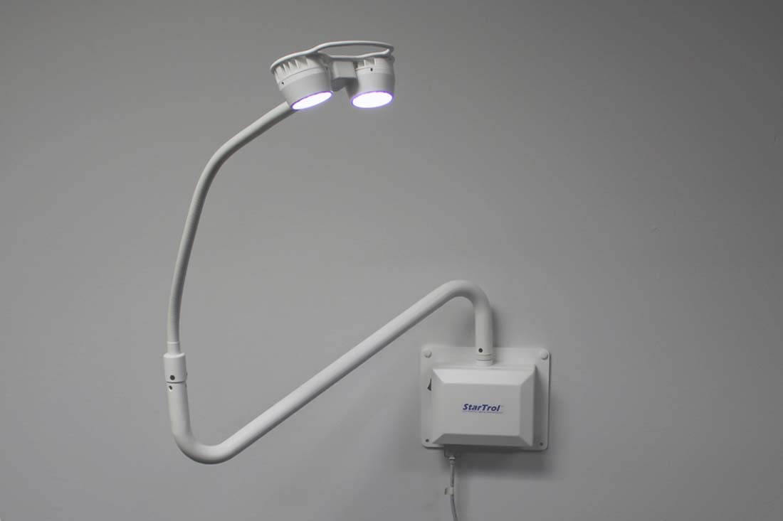 Wall Mounted Medical Examination Lamps : StarTrol 2x3 Wall Mounted Examination Light Heartland Medical