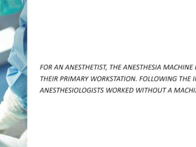 How does anesthesia machine work?